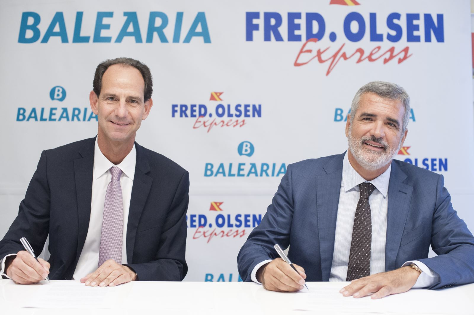 The Managing Director of Fred. Olsen Express, Andrés Marín, and the President of Baleària, Adolfo Utor