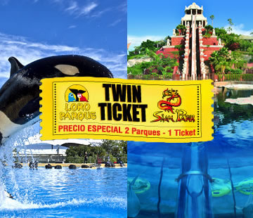 FERRY + TWIN TICKET - LORO PARQUE y SIAM PARK