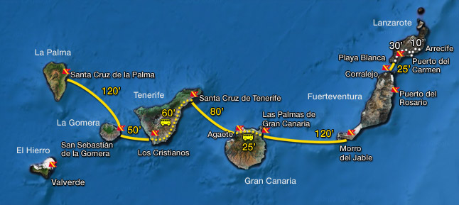Rutas - Transporte entre islas canarias ...